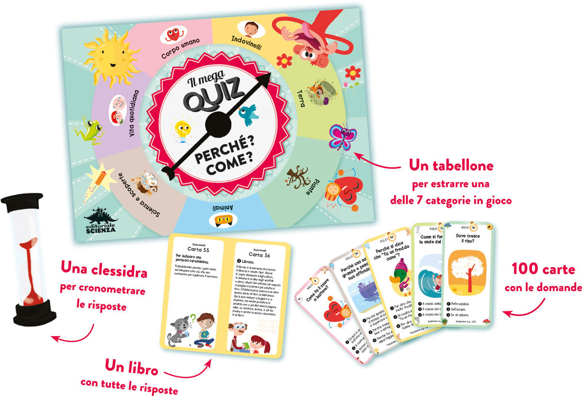 Quiz Ecologia Per Bambini il mega quiz - perché? come?: libro e gioco per bambini